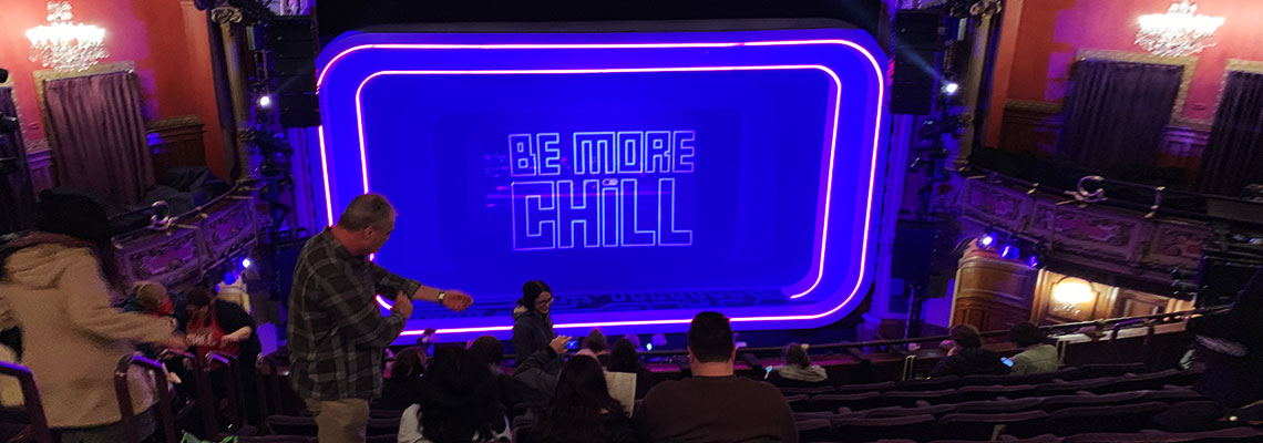 Lyceum Theatreにて上演中のBe More Chill(ビー・モア・チル)